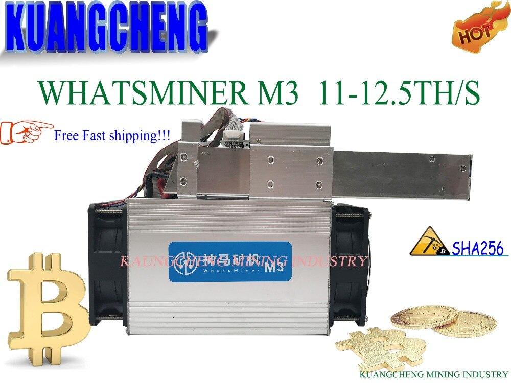 85 ~ 95% nuevo Asic minero BTC BCC BCH WhatsMiner M3X 12TH/S Bitcoin minero M3 minero con PSU mejor que Antminer s5 S9 S7 T9 E9 M3
