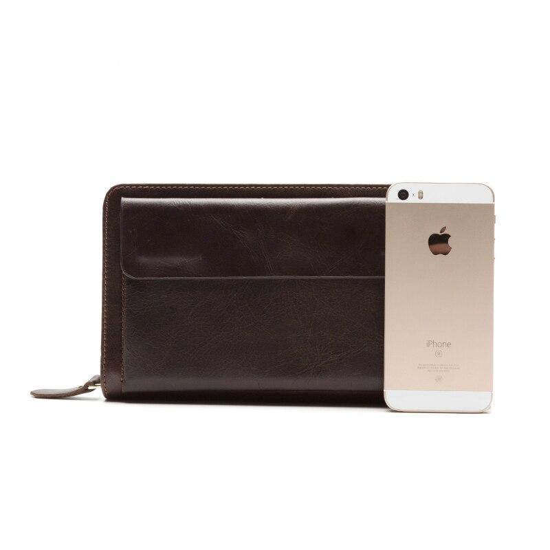 embreagem carteira de couro bolsa Material Principal : Couro Genuíno