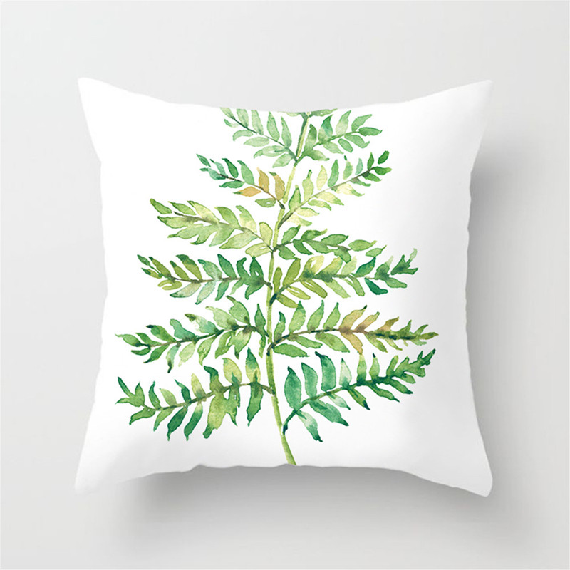Image 5 - Fuwatacchi Simple Painting Flower Feather Cushion Cover Flamingo Pineapple Leaves Solid Pillow Case Home Decoration Accessories-in Cushion Cover from Home & Garden
