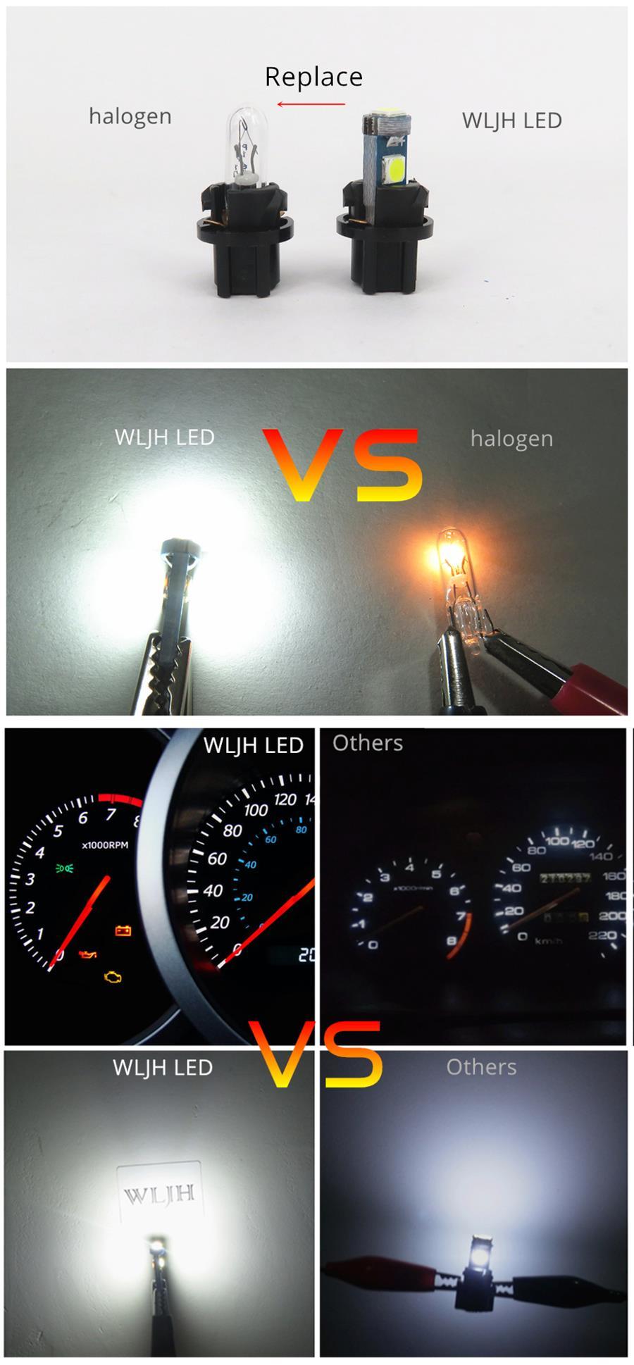 wljh 6x pc74 t5 luzes para painel