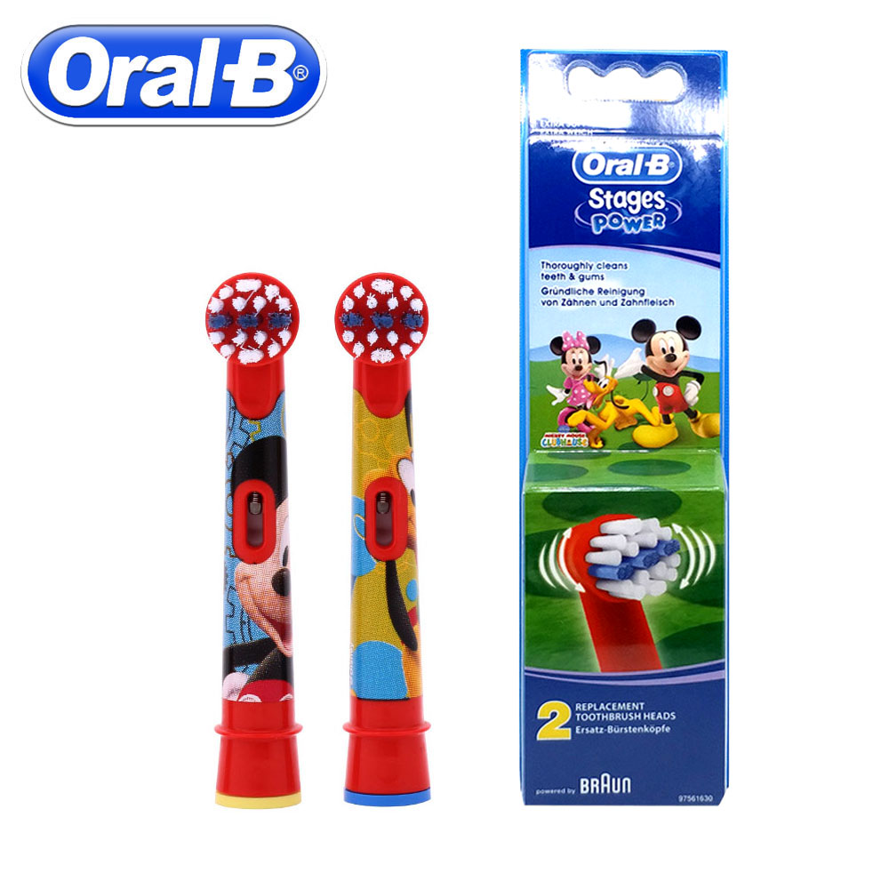 2pc/Pack Oral B Children Electric Brush Heads Cartoon Replacement Rotating Toothbrush Head Oral Hygiene Soft Brush Head For Kids 3