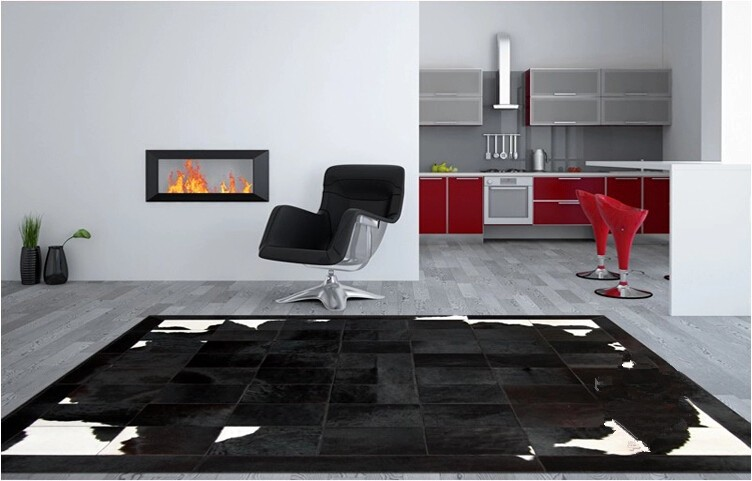 Genuine Leather Natural Cowhide Rug Carpet Customize Cow Hair Rug Living Room Carpets Luxury Furniture Modern Carpet Floor Rugs