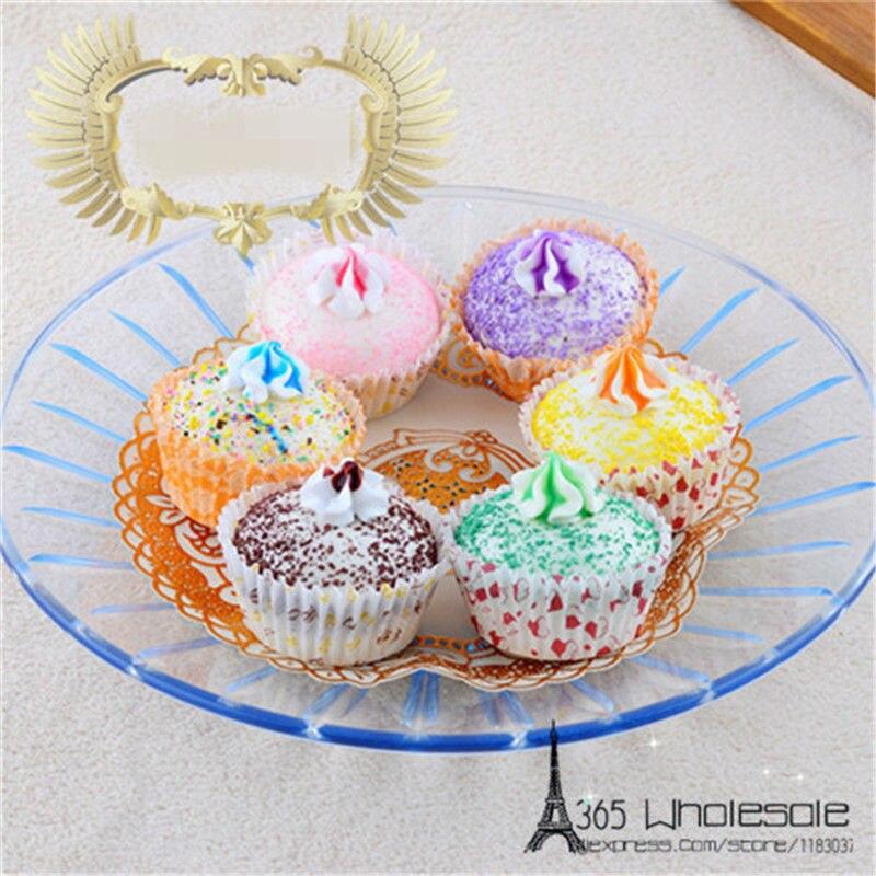 Doprava zdarma 6ks / lot Squishy Cupcake Umělé potraviny hračky 5cm falešné simulované potraviny domácí kancelář chléb obchod dekorace dárky