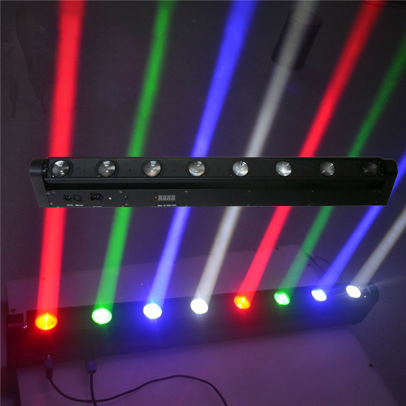 8x12W RGBW LED Bar Beam Moving Head Light 150W Beam Moving Head Light With DMX512 10/38 Channels Bar DJ Club Spot Stage Lighting