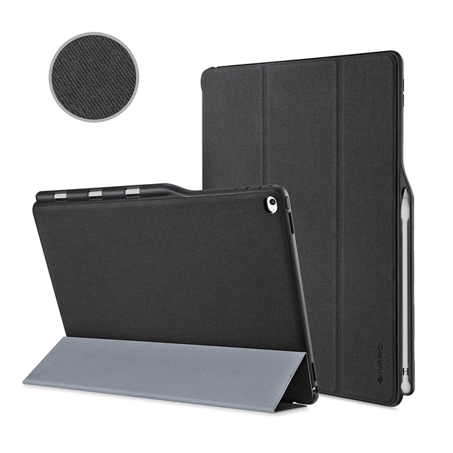 For Apple iPad Pro 12.9 Inch Case Leather Slim Fit Flip Folio Case W Pencil Holder,Auto Sleep/Wake Smart Cover For iPad Pro 12.9