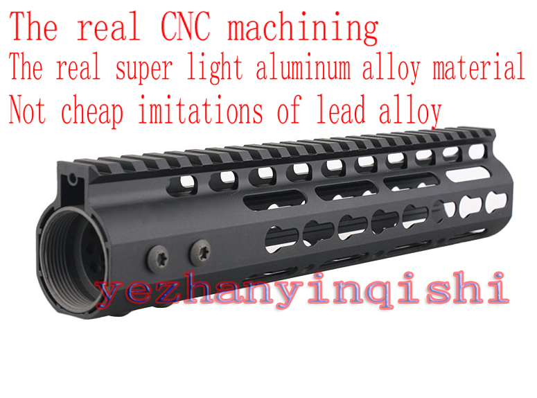 Real CNC lightweight aluminum alloy anodizing 9 inch picatinny rail handguard rail system One-piece for AR-15/M4/M16 ryder anodizing aluminum alloy screw lock carabiner blue 7mm