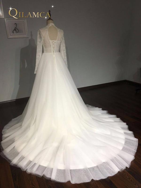 Πραγματικά δείγματα μπάλα φόρεμα Puffy - Γαμήλια φορέματα - Φωτογραφία 5