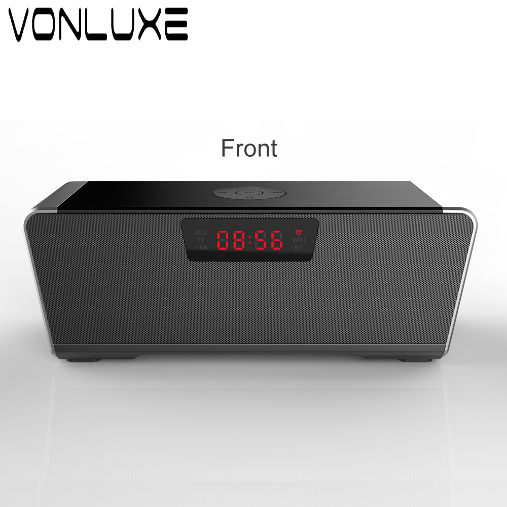 Portable 20w Wireless Bluetooth Speaker Soundbar Super Bass Stereo Loudspeaker Long-standby with Alarm Clock Speakers for Phones ttlife mini portable touch button bluetooth speaker support fm radio nfc tfcard wireless super bass loudspeaker