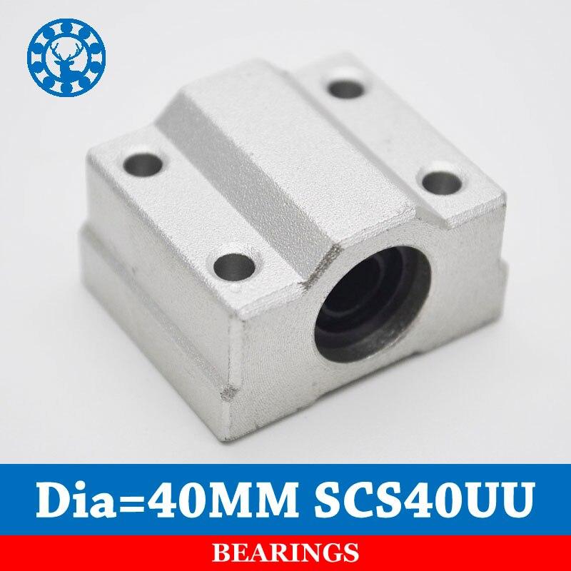 SC40UU SCS40UU for 40mm linear rails linear motion ball slide units CNC parts For 40mm Linear Shaft