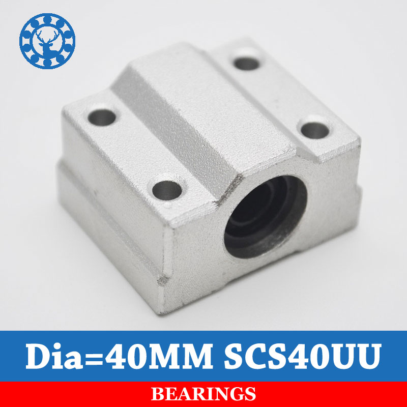 SC40UU SCS40UU for 40mm linear rails linear motion ball slide units CNC parts For 40mm Linear Shaft scv25uu slide linear bearings aluminum box type cylinder axis scv25 linear motion ball silide units cnc parts high quality