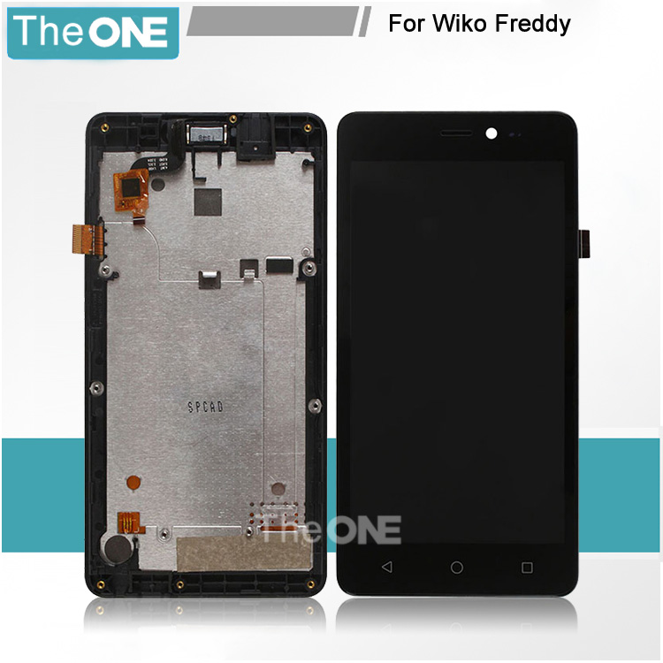 Free DHL For Wiko Freddy LCD Display and Touch Screen Screen Digitizer Assembly with frame Replacement For Wiko Freddy Mobile original lcd for wiko ridge 4g lcd display with touch screen digitizer pantalla assembly replacement 5 inch black color