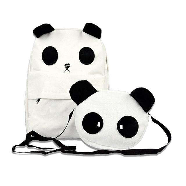 2 Piece 1 Set Panda Plush Backpack Animal Schoolbag Cartoon Anime Shoulder Bag Cute Pandas Bags