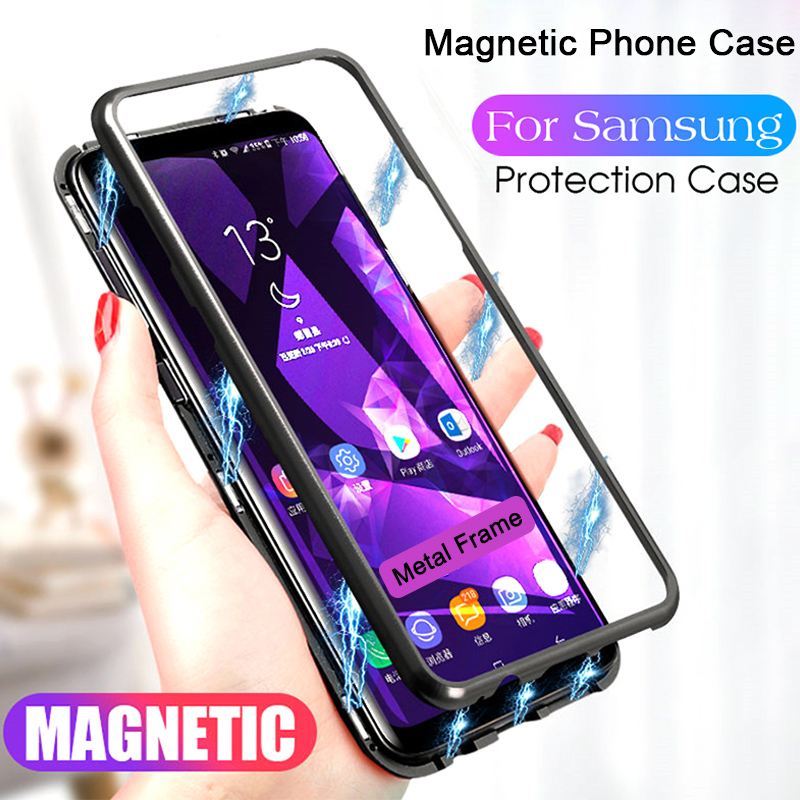 Magnetic Adsorption Phone Case For Samsung A50 A70 A40 A60 A30 A20 A10 M30 M20 M10 Case For Galaxy A9 A7 J6 J4 Plus Cover Case