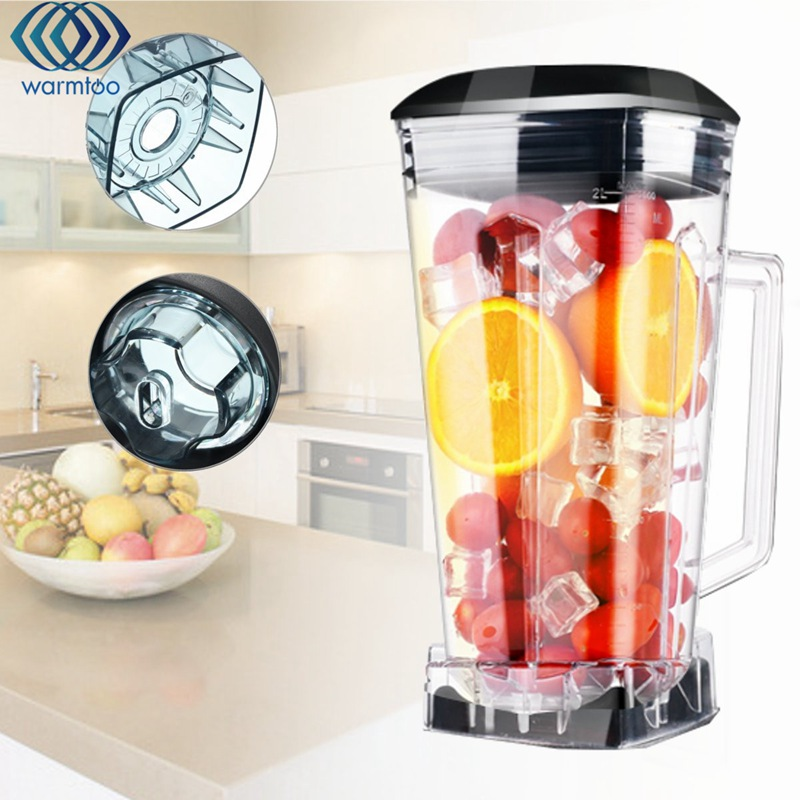 2L Juicer Container Mixing Square Cup Mixer Fruit Blender Commercial Grade Juicer Parts BPA 3HP Heavy Duty 2l heavy duty commercial grade juicer fruit blender mixer bpa 3 speed 2200w professional smoothies food mixer fruit processor