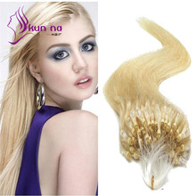 Micro Loop Hair Extensions 0.5g/strand 100 strands/pack Silky Straight hair Extensions Brazilian virgin human hair Extensions