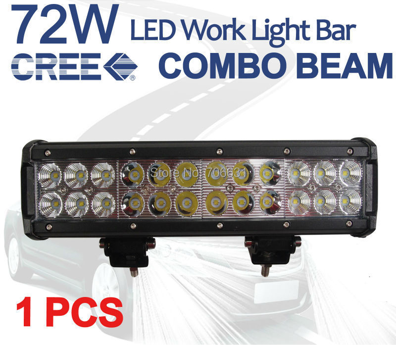 1 PCS X 12 72W CREE LED Work font b Light b font Bar Alloy Spot