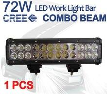 """1 unids X 12 """" 72 W CREE LED barra ligera del trabajo aleación inundación del punto Combo Offroad 4WD SUV"""