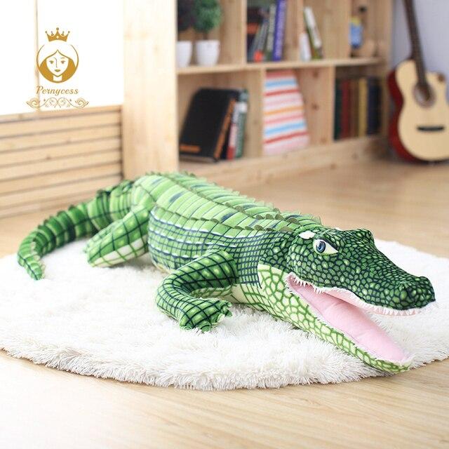 Criativo Simulação Realista de Crocodilo Engraçado brinquedos de Pelúcia Boneca Brinquedos de Pelúcia piso casa de boneca brinquedos para crianças Presentes de Aniversário