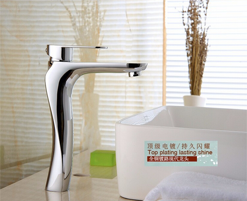 Modern Bathroom Products Chrome Finished Hot and Cold Basin Faucet Mixer,Single Handle water Tap bathroom basin faucets modern chrome finished bathroom faucet single hole cold and hot water tap basin faucet mixer taps