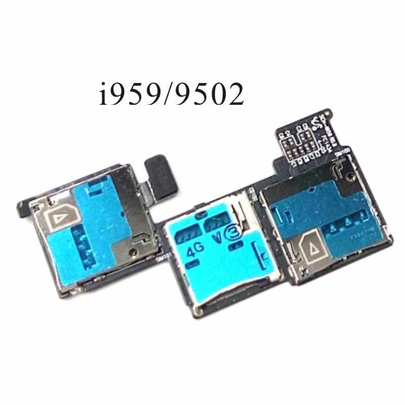 For Samsung S4 i9500 i9508 N9008V N7505 N5110 i959 9502 E300S E330s L720 R970 Micro SIM Card Tray Slot Holder Reader Flex Cable