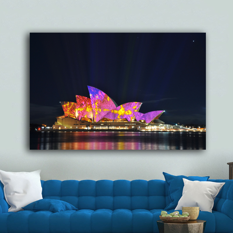 RELIABLI ART Posters And Prints Opera House <font><b>Sydney</b></font> Australia Wall Pictures For Living Room Canvas Painting Cuadros image