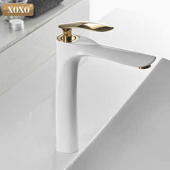 XOXO Basin Faucets Cold and Hot  Single Hole Mixer Tap Black White Gold Mixer Tap For bathroom Sink Taps 20055-1 - DISCOUNT ITEM  47% OFF All Category