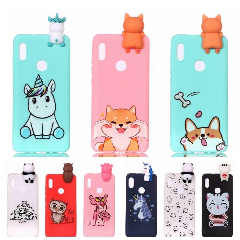 Huawei P20 Lite Case Cartoon 3D Unicorn Panda Silicone Case Cover ...
