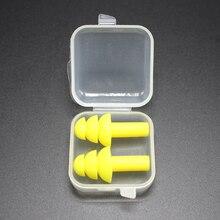 1 пара силиконовых водонепроницаемых беруши для плавания, беруши, защита для ушей, шумоподавление, защитные наушники, удобные для учебы и сна