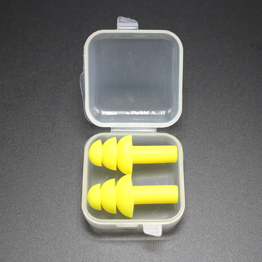 1 Pair Silicone Waterproof Swimming Ear Plugs Earplugs Ear Protector Noise Reduction Protective Earmuffs Comfortable Study Sleep