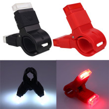 T2 New Bicycle LED USB Charging Rear Tail Warning Safety Light Lamp Red Light 3 Modes Brake Lights Accessories Free Shipping