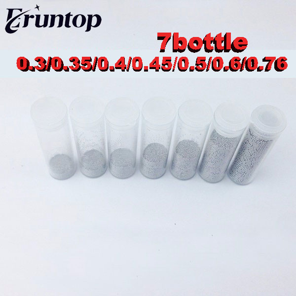 1 Bottles Solder Balls 25k 0.2mm 0.3mm 0.35mm 0.4mm 0.45mm 0.5mm 0.55mm 0.6mm 0.76mm Weld Ball Leaded