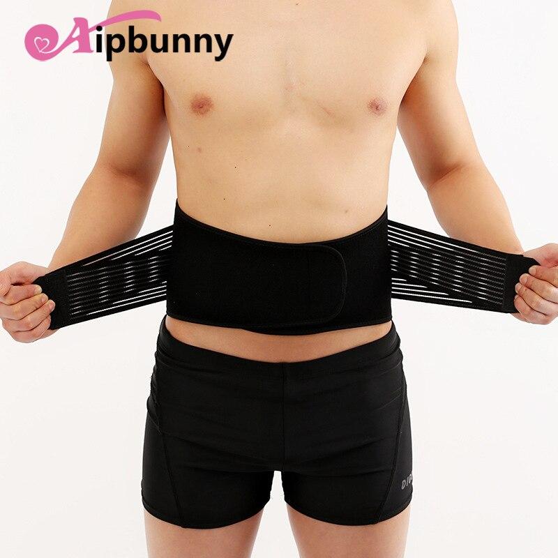 Aipbunny Elastic Bandage Men Women Waist Support Bodybuilding Sports Lumbar Back Protector Exercise Belts Brace Waist Trainer