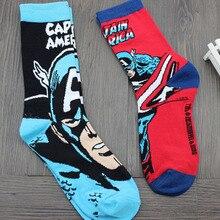 Marvel Comics Hero General Socks cartoon Iron Man Captain America Knee High Warm Stitching pattern Antiskid
