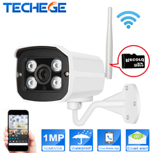 Techege МИНИ 1280*720 P WI-FI Ip-камера Водонепроницаемые HD Сеть 1.0MP wifi камера nignt видения В/Открытый беспроводная ip-камера