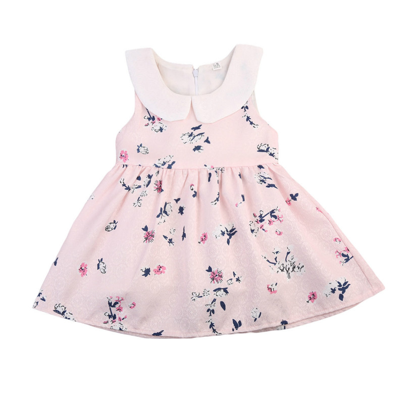 Cute Toddler Kids Princess Girls Summer Dress Sleeveless Peter Pan Collar Boho Floral Sundress Holiday Party Dresses Clothes women shoes spring autumn genuine leather flat shoes round toe lace up flats ladies moccasins