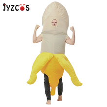JYZCOS Inflatable Willy Penis Costumes Banana Costume Condoms Cosplay Hen Stag Night Halloween for Women Men