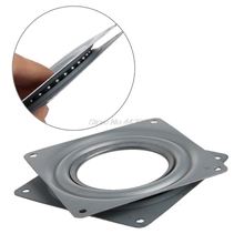 "Square Bearing Swivel Plate Lazy Susan Turntable 3""/4""/6"" TV Rack Desk Tool"