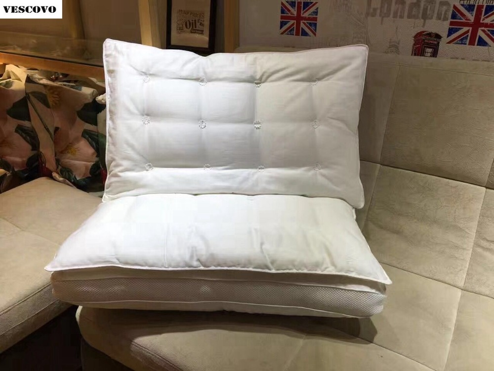 High Quality Silk Pillows For hotle 100 Pure Cotton Brand New Car Travel Health Care Pillow