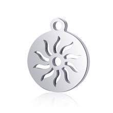 10pcs Real Stainless Steel Charms Sun Flame Pendant for Fashion Handmade DIY Jewelry Making Finding Accessories