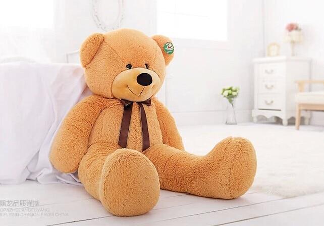 100cm light brown Teddy bear plush toy bear doll throw pillow gift w4822 stuffed animal 130cm brown teddy bear plush toy bear doll throw pillow gift w3571