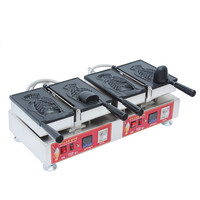 110V 220V Commercial 2pcs Electric Korean Ice Cream Deep Mouth Non Stick Taiyaki Fish Waffle Maker