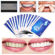 28pcs/14Pair 3D White Gel Teeth Whitening Strips Oral Hygiene Care Double Elastic Tooth Dental Bleaching Tools