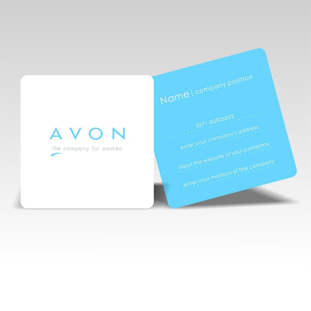 2016 Date Designer Die De Coupe Personnalise Carre Cartes Visite Impression Coin Rond Simple Appelant Carte Nom 350gsm