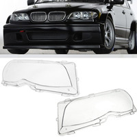 Left Right Side Car Headlight Lens Covers Head Lamp Cover For BMW E46 320i 325i 325xi