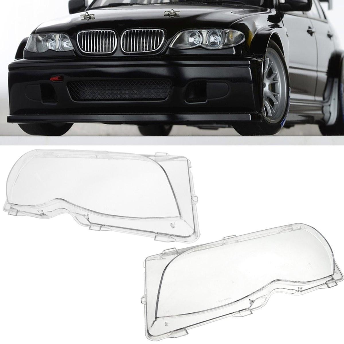 Left/Right Side Car Headlight Lens Covers Head Lamp Cover For BMW E46 320i/325i/325xi 4DR Sedan 2001 2002 2003 2004 2005 2006