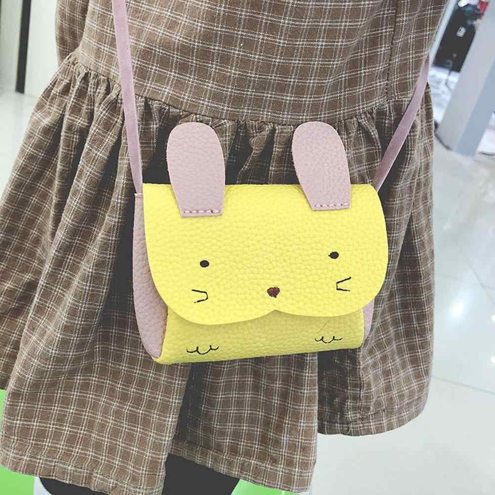 Crianças Bolsa Crianças Mini Sacos De Coelho Saco Do Mensageiro Portátil Bolsa de Couro PU Bolsa Da Moeda saco Bonito Sacos Single-ombro zk30