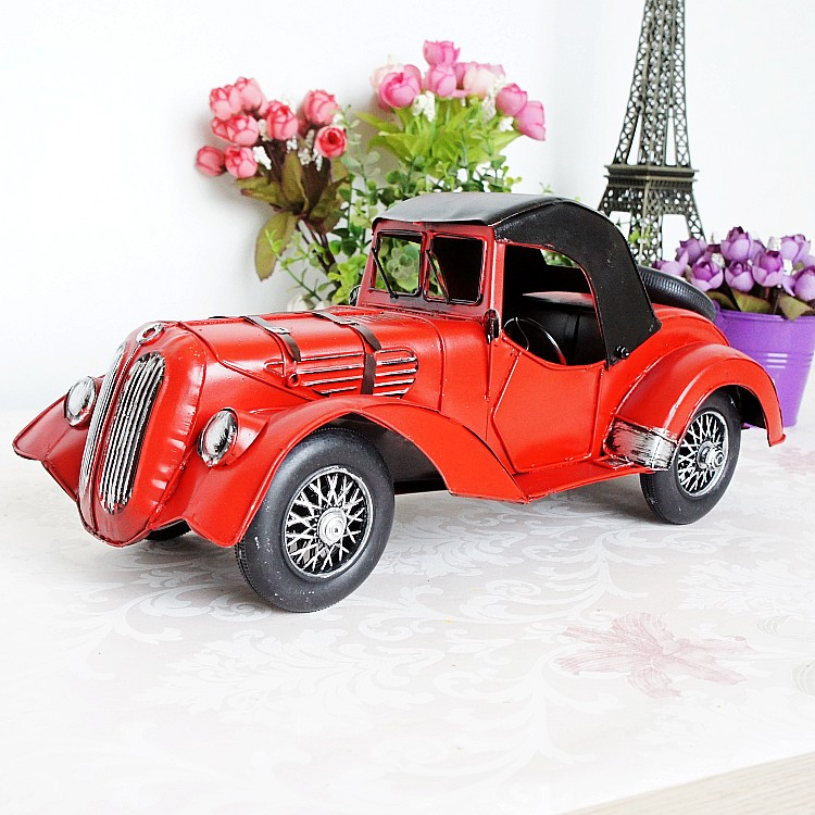 Creative gift Vintage metal classic cars model handmade metal retro car model home decoration birthday gift decoration