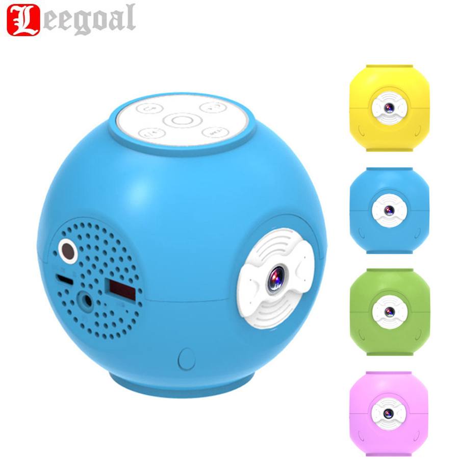 P95 Mini Projector Handheld Ball Round Cute LED Projectors Home Cinema Theater USB Multimedia Story Beamer For Kids Projectors