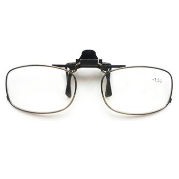 Przenośny klip na okulary do czytania mężczyźni kobiety klip okulary do czytania elastyczne okulary bez oprawek do czytania mężczyźni okulary dioptrii óculos tanie i dobre opinie 4 2cm WOMEN Unisex aipo STAINLESS STEEL 7010 Z poliwęglanu WHITE Gradient 42*22*140mm +1 0 +1 5 +2 0 +2 5 +3 0 +3 5 +4 0