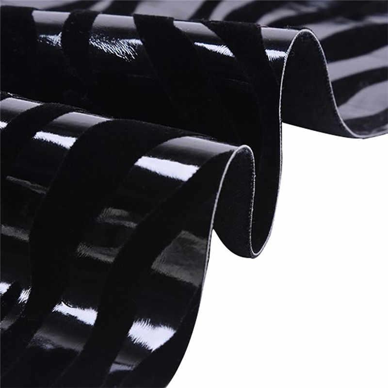Lychee Life A4 Zebra ziarna tkanina ze sztucznej skóry ze skóry syntetycznej do włosów łuk Making DIY materiał do szycia dla Handmade rzemiosło
